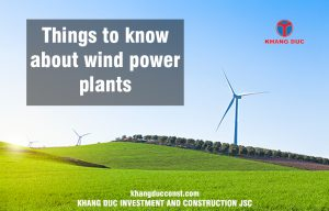 Wind farm power plant construction