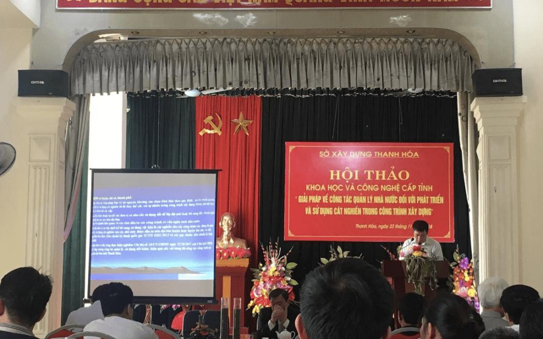 Thanh Hóa: Hội thảo về công tác quản lý Nhà nước về phát triển cát nghiền trong xây dựng