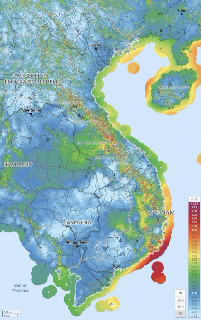 Wind energy potential of Viet Nam