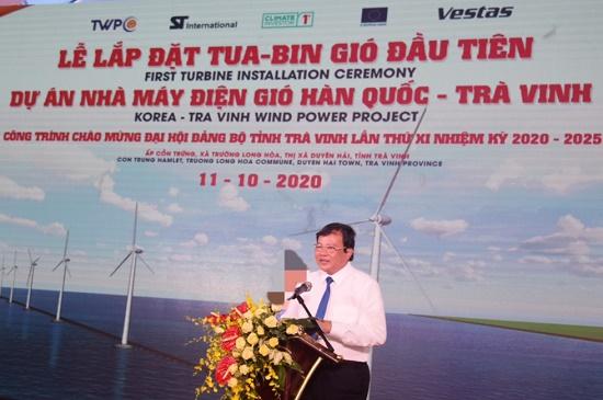 Trà Vinh: Long trọng tổ chức Lễ lắp đặt tua-bin gió Dự án Nhà máy Điện gió Hàn Quốc – Trà Vinh